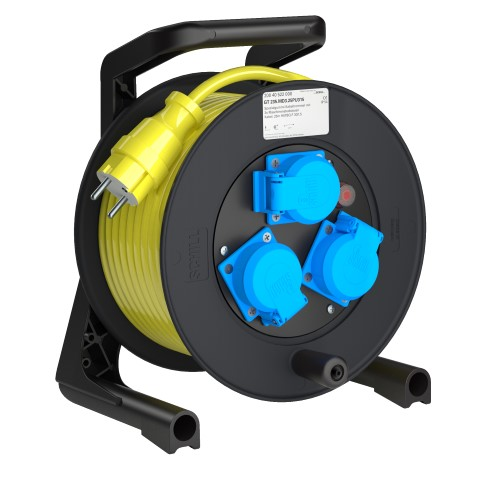 Professional Line Power H07BQ  Yellow  MD3<br />GT 235.MD3.25PU315*<br />Part-No. 200 40 522 000<br />Protection class IP54<br />Cable (m) 25 Yellow<br />Cable type H07BQ-F 3G1,5 Yellow