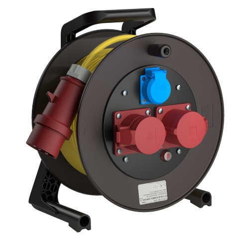 Professional Line Power   Yellow<br />GT 310.2C516MD1.25PU515*<br />Part-No. 270 21 552 000<br />Degree of protection IP54<br />Cable (m) 25<br />Cable type H07BQ-F 5G1,5                                                                                                                                                  2 CEE sockets, 4-pin + E, 16A, 400V<br />1 earthed machine socket, 2-pin + E, 16A, 230V