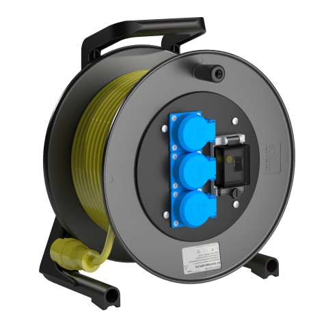 Professional Line  Power FI.MD3   Yellow<br />GT 310.FI.MD3.25PU315*<br />Part-No. 270 57 522 000<br />Protection class IP54<br />Cable (m) 25<br />Cable type H07BQ-F 3G1,5