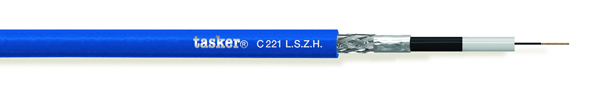 Bewakingskabel HD 1x75 Ohm<br />C221 L.S.Z.H.