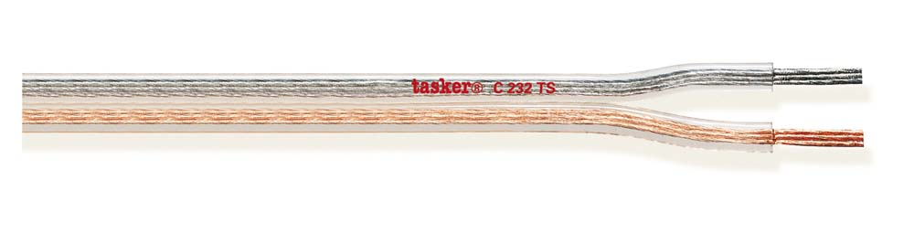 Special divisible transparent flat cable 2x2.00<br />C232TS