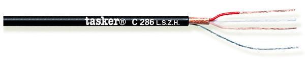 Gebalanceerde microfoonkabel 2x0,22 in LSZH<br />C286 L.S.Z.H