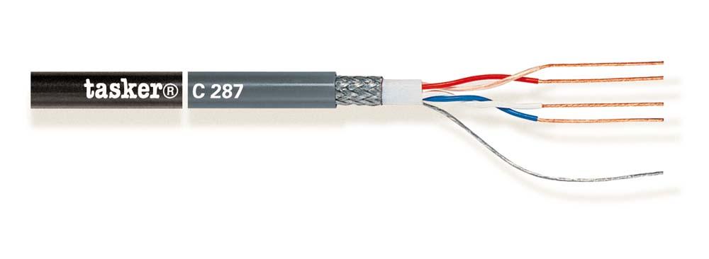 Quad microfoonkabel 2x2x0,22<br />C287