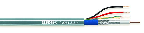 Bewakingskabel HD 1x75 Ohm + 2x0,50 + 1x2x0.22<br />C298 L.S.Z.H.