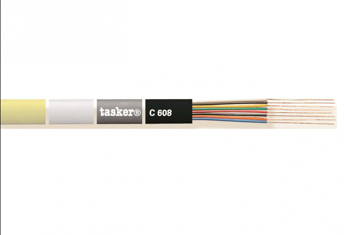 Flat telephone cable 8 x 0,08<br />C608color