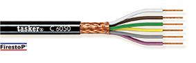 Rood koper gevlochten afgeschermde kabel 8 x 0,50 - CPR<br />C8050