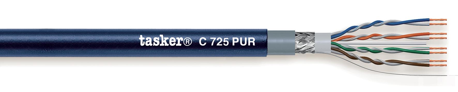 LAN-kabel 5e S-U.T.P.<br />C725 PUR. Mobiel binnen / buiten