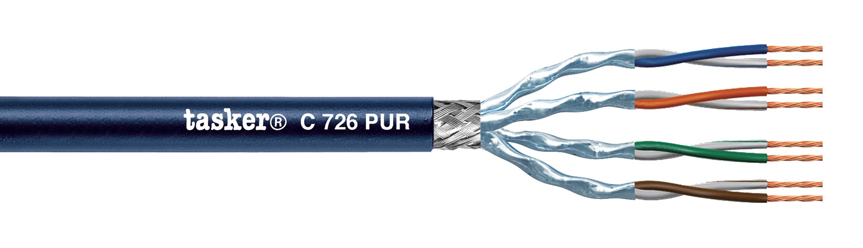 LAN kabel 7 S-F.T.P. In PUR<br />C726 PUR. Mobiel binnen / buiten