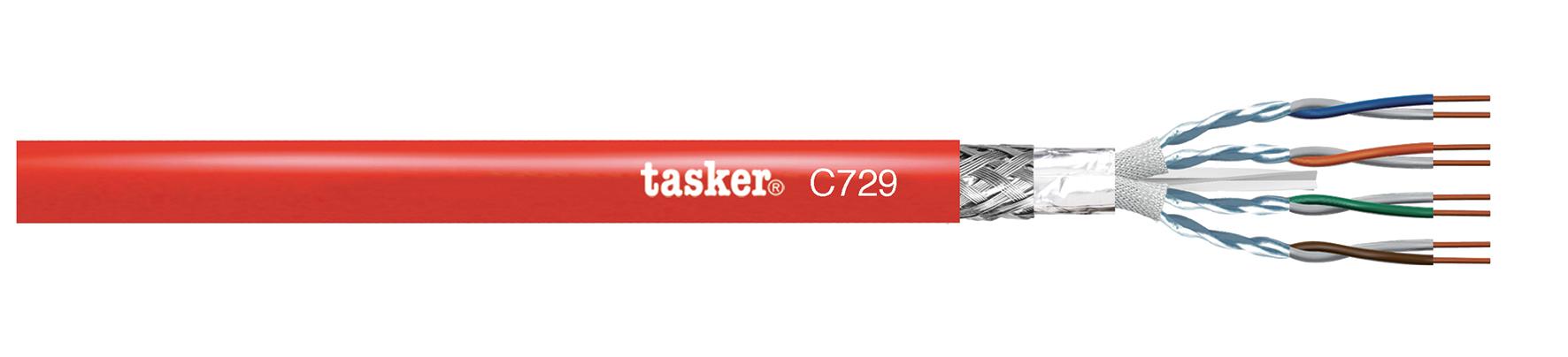 LAN cat6A C729-S-FTP 4x2x0,34 CU. Brandveiligheidskabel (PH120)