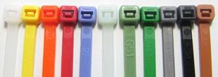 Standaard gekleurde kabelbinders/Standerd Colored tie wraps                                                                                      Typenr.100 x 2,5mm                                                                                                                           Lengte (mm)  100                                                                                                                                        Breedte (mm)2,5                                                                                                                                           Max.bundel diameter (mm)  22                                                                                                       Trekkracht (kg) 8,1                                                                                                                                Kleur Blauw/Blue                                                                                                                                                     Verpakking per 100 stuks