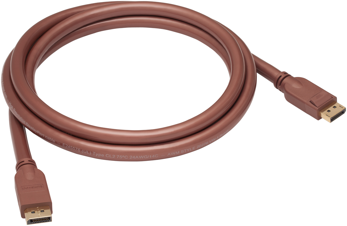 High Resolution (DP HR™) DisplayPort Copper Cables . DVI-26005-HR  Cable DisplayPort HR 24AWG, 0.5 meter  (1.6 ft.)