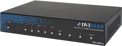 Video-PC to HDMI Converter / Scaler  DVI-3551a