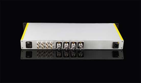 FieldCast Fibre Dock One. stand-alone controlestation voor 4 PTZ-camera's