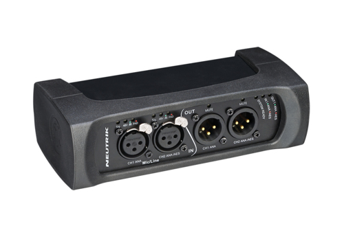 DANTA the NA2-IO-DPRO is a 2IN, 2OUT breakout box designed to connect legacy audio equipment with the Dante® network.