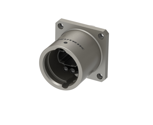 Neutrik opticalCON NO2FW-XP<br />Female chassis connector with ruggedized anticorrosive plating, 4 crimp contacts