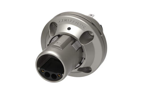 Neutrik opticalCON NO2MW-XP<br />Male chassis connector with ruggedized anticorrosive plating, 4 crimp contacts