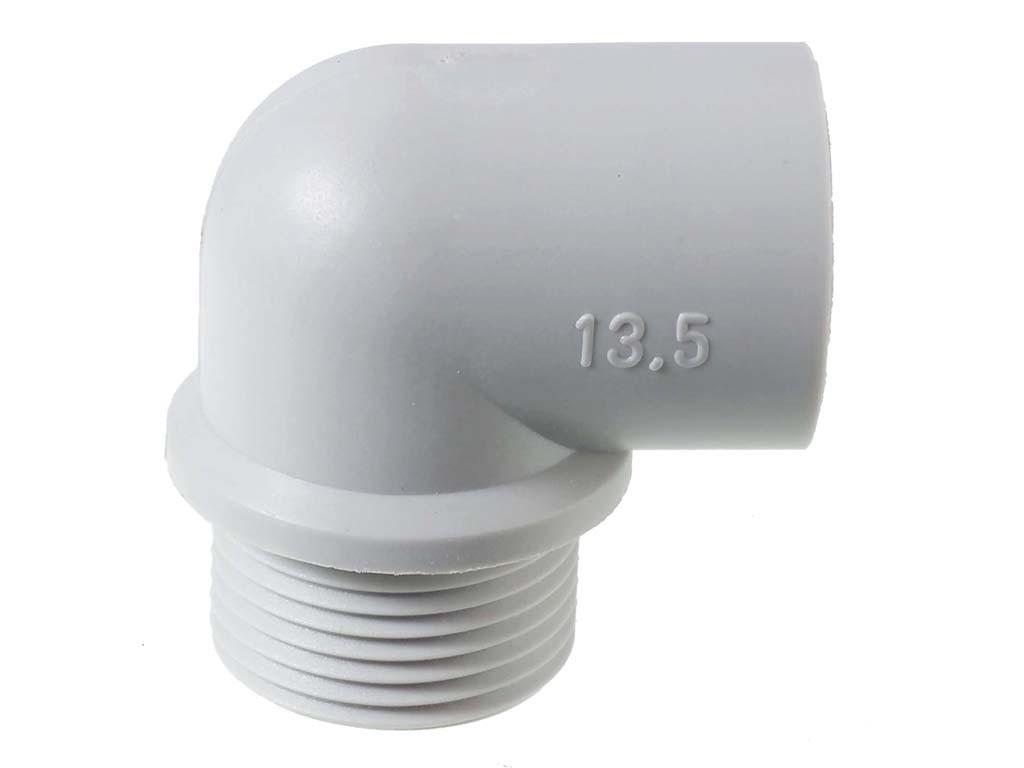 Polyamide PA6 GF25 Jacob haakse  kabelwartels  PG                                                                               Schroefdraad aansluiting PG9                                                                                                                                                                                                           Schroefdraad lengte (mm) 11,0                                                                                                                                                                                                                                                                                                                              Hoogte  (mm)  30,0                                                                                                                                    Diameter (mm) 11,5                                                                                                                              Kleur  Licht grijs RAL7035 Light  Gray