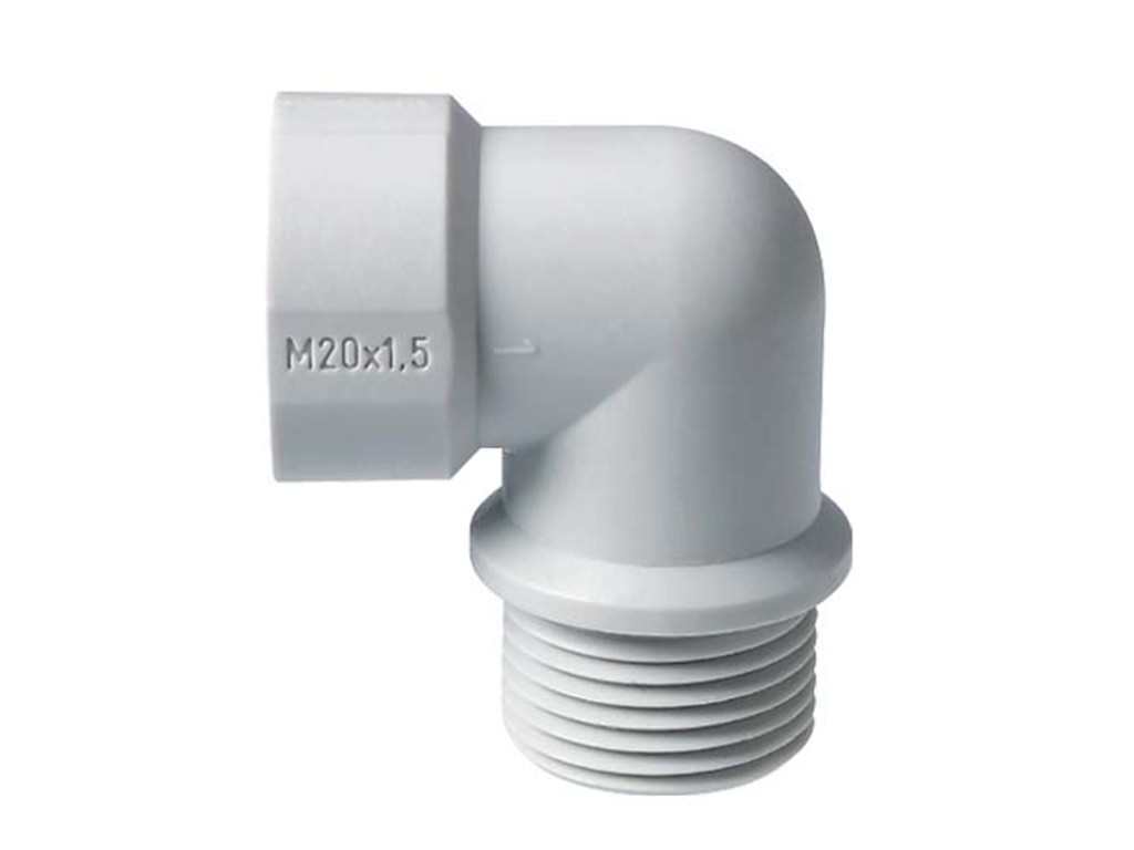 Polyamide PA6 GF25 Jacob haakse  kabelwartels  metrisch                                                                               Schroefdraad aansluiting M16 x 1,5                                                                                                                                                                                                           Schroefdraad lengte (mm) 12,0                                                                                                                                                                                                                                                                                                                              Hoogte  (mm)  38                                                                                                                                    Diameter (mm) 12,2                                                                                                                                Kleur  Licht grijs RAL7035 Light  Gray