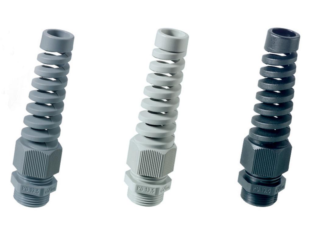 Polyamide PA6 V-2 Jacob spiraal kabelwartels PG                                                                                Schroefdraad aansluiting PG7                                                                                                                                                                                                           Schroefdraad lengte (mm) 8,0                                                                                                                                                                                                         Kabel mim. 3,0  -  max.6,5                                                                                                                     Hoogte spiraal (mm)  63                                                                                                                                Kleur  Licht grijs RAL7035 Light gray