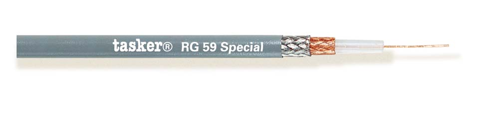Coax cable 75 Ohm double shielded<br />RG59special