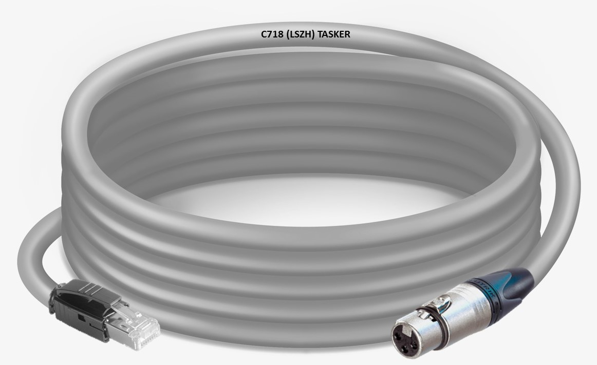 Ethernet Cat6a C718LSZH  kabel  NC3FXX-RJ45 connectoren