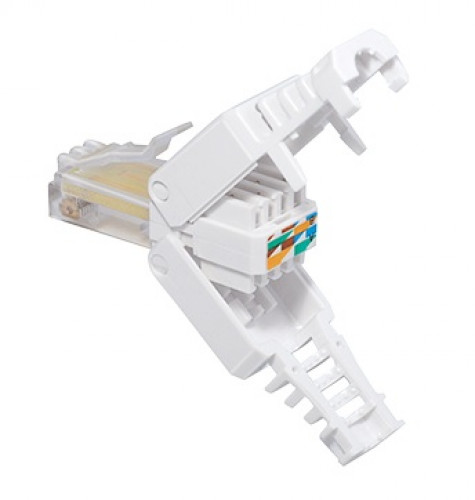 Lumberg RJU06-WH RJ45 connector CAT6A  toolless PLUG with.Massief  for round cable