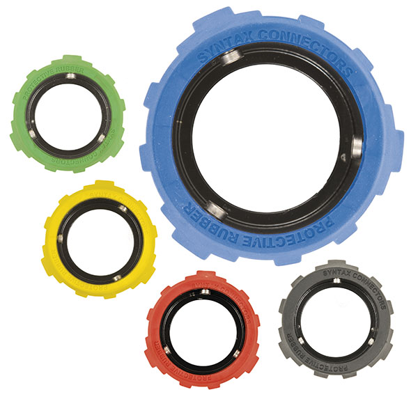Rubber coated locking ring for SPX Series. 4 pin