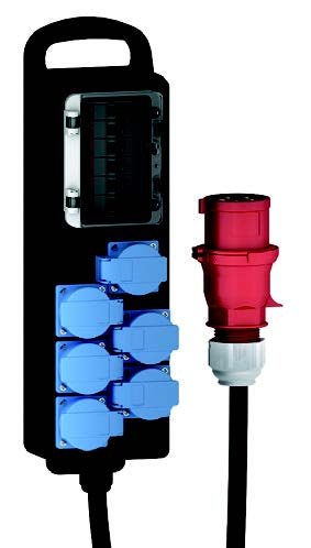 BALS-Prd.-Nr K000640001<br />Verdeelslof 32A  5p 6x Schuko D                                                                                                       Solid-Rubber Enclosures                                                                                                                           Components:<br />6Domestic sockets 16A,230V ? ( system F - German earting System )                                    Cable entry/Input:                                                                                                                                     CEE plug 32A , 400V, 5p with lead 1,8 mtr HO7RN-F 5G6                                                               Kooo640001 with 6 D-Type MCB5 16A,1p