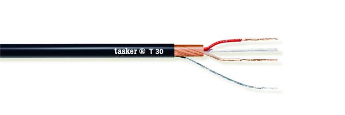 Gebalanceerde analoge microfoonkabel 2x0.22<br />T30