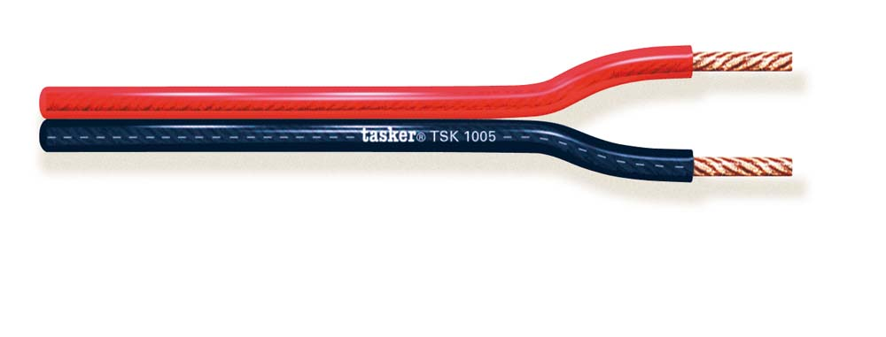 Divisible transparent Red&Black flat cable 2x1,50<br />TSK1002