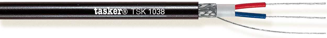 TSK 1038 Soft 2x0,35 mm&sup2; Mobile In/Outdoor<br />DMX Digital Audio 110 Ohm Cable AES/EBU