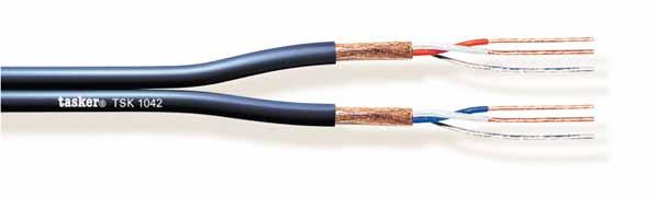 Plat gebalanceerde microfoonkabel 2x2x0,22<br />TSK1042