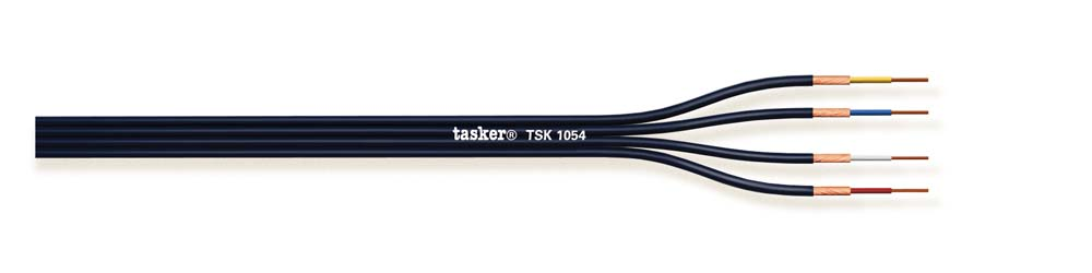 Divisible shielded flat cable for audio and electronics 4x0,12<br />TSK1054