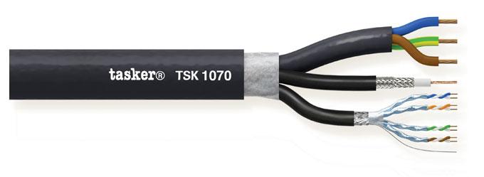 Komby Video+LAN+Power 1x0,80 (75?) +4x2x0,25 +3x2,50mm&sup2;<br />TSK1070 L.S.Z.H.