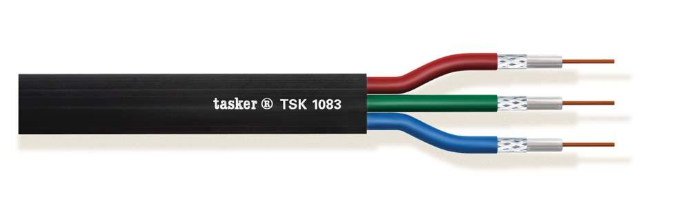 Multivideo afgeschermde kabel 3x75 Ohm<br />TSK1083