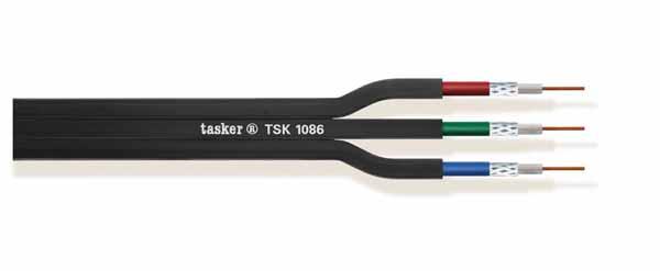 Multivideo afgeschermde kabel 3x75 Ohm<br />TSK1086