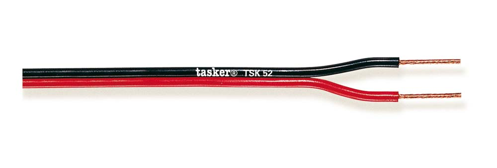 Divisible red&black flat cable 2x0,50 CCA<br />TSK51