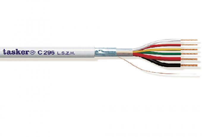 Surveillance Alarm kabel 4x0,22 + 2x0,50<br />C296.L.S.Z.H