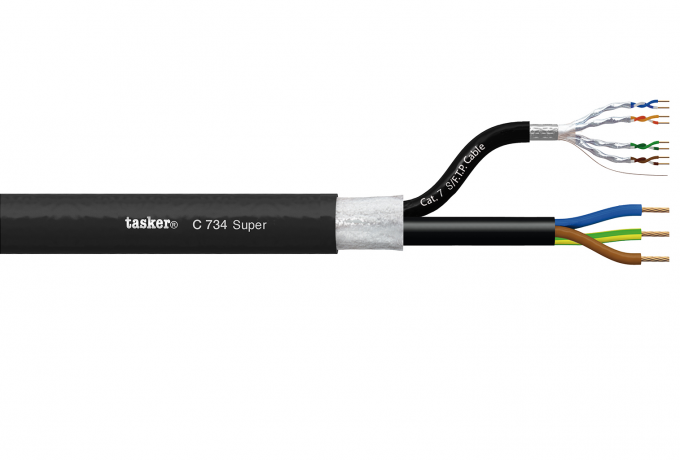 Hybride/Data LAN Komby cable cat. 7 1x(4x2x0.14)+3x1.50<br />C734 Super