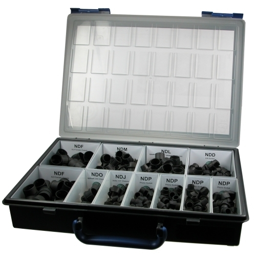 Neutrik  dummyPLUG case includes a mixed assortment CAS-DUMMY