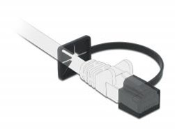 RJ 45 Dustcover with Strap. RJ45 STOFHOES MET BAND