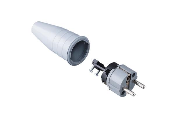 Volrubber contactstop 16A, 250V in de kleur grijs-grijs .