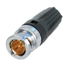 Neutrik Video 75Ohm rear TWIST HD Tiny BNC  Cable Connectors  NBNC75BL15 Crimp size: Pin 1.6 (square) Shield:4.06 mm (hex).DIE-R-BNC-CS