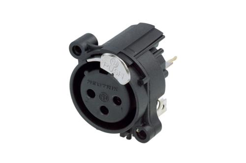 Audio XLR Chassis connector NC3FAAV1-DA