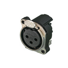 Audio XLR Chassis connector NC3FBHL1-E with flange.