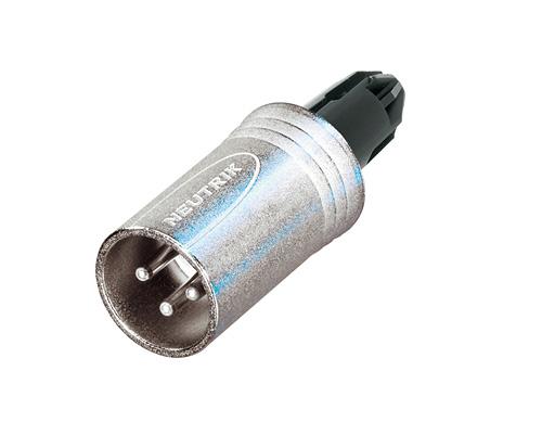Audio XLR-kabelconnectoren NC3MXX-WOB-BAG Bulk doos 100st<br />3-polige mannelijke kabelconnector, zwarte behuizing en zilveren contacten, zonder afdicht dop