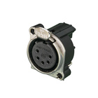 Audio XLR Chassis connector NC5FBH with flange.