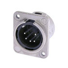 Audio XLR Chassis connector NC5MDM3-L-1 with metal housing.
