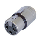 Neutrik Modules  NM3FXI. 3 pole female XLR housing,outer thread M 17x1,solder contacts.
