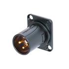 Neutrik Modules  NM3MD-B.3 pole XLR male module,D-shape,black plated,solde contacts